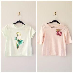 2 Crazy 8 Girls Print Shirts size S(5-6)